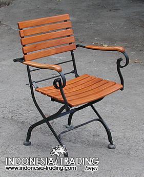 Outdoor Furniture / Metal & Metal-wood / Iron Teak Furniture