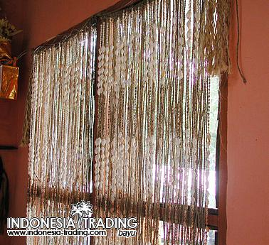 Indoor Deco Textiles Wooden Shell Curtains