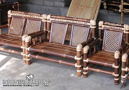 Bamboo Furniture Bench Sofa Sets